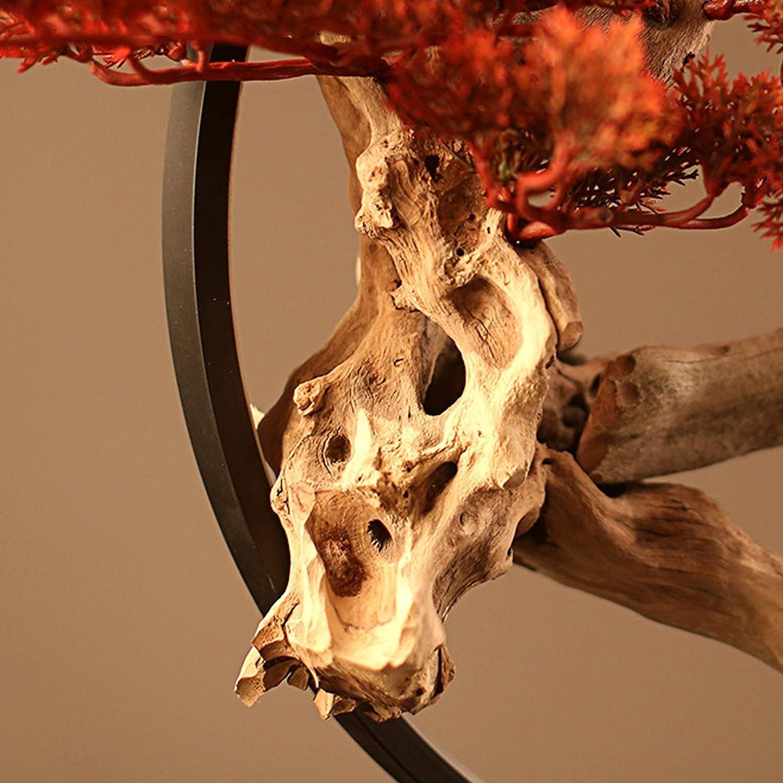 /Árbol Bonsai Artificial Decoraci/ón del hogar Regalos Realista Faux Bonsai Tree con LED Luz China Zen Plantas de Interior Artificiales for la Sala de Estar de la Sala de Estar Decoraci/ón de la Oficina