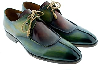 [Oscar William] Green/Bordeaux Benedict Men's Luxury Classic Leather Shoes