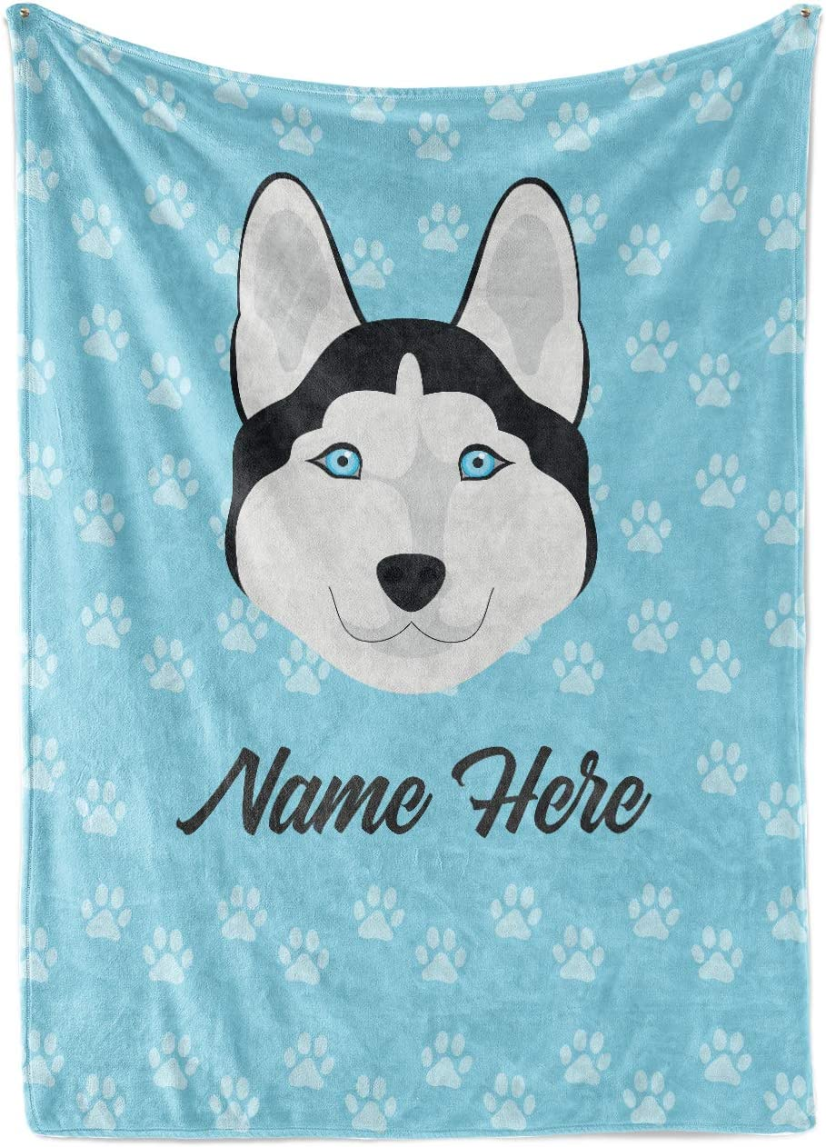 Personalized 2021 model Custom Dealing full price reduction Pet Husky Fleece fo and Blanket Throw Sherpa
