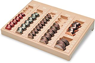 MMF Industries One-Piece Plastic Countex II Coin Tray w/6 Compartments, Sand (221611003)