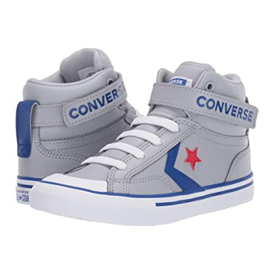 Converse Kids Pro Blaze Strap Hi (Little Kid/Big Kid) (Wolf Grey/Blue/Enamel Red) Boy