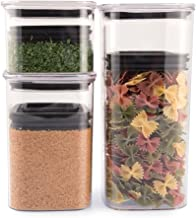 Planetary Design Airscape Lite Plastic Food Storage Canister, 3 Pack - 32, 64 and 96 fl. oz - Patented Airtight Lid Preserves Food Freshness - Clear