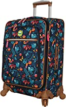 Lily Bloom Luggage Carry On Expandable Design Pattern Suitcase For Woman With Spinner Wheels (Sloth To Me Navy, 20in)