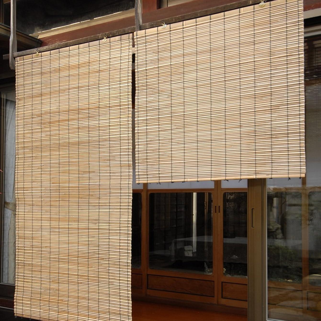 マニア署名びん簾(すだれ) 日よけ サンシェード 屋外 和風 アジアン 蒲芯すだれ 88×80cm(1枚)
