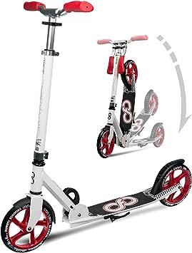 Infinity Scooters Patinete de Ruedas Grandes para Adultos y Niños a Partir de 8 años - Patinete Plegable de Ruedas PU 205mm ABEC-7 con Manillar ...