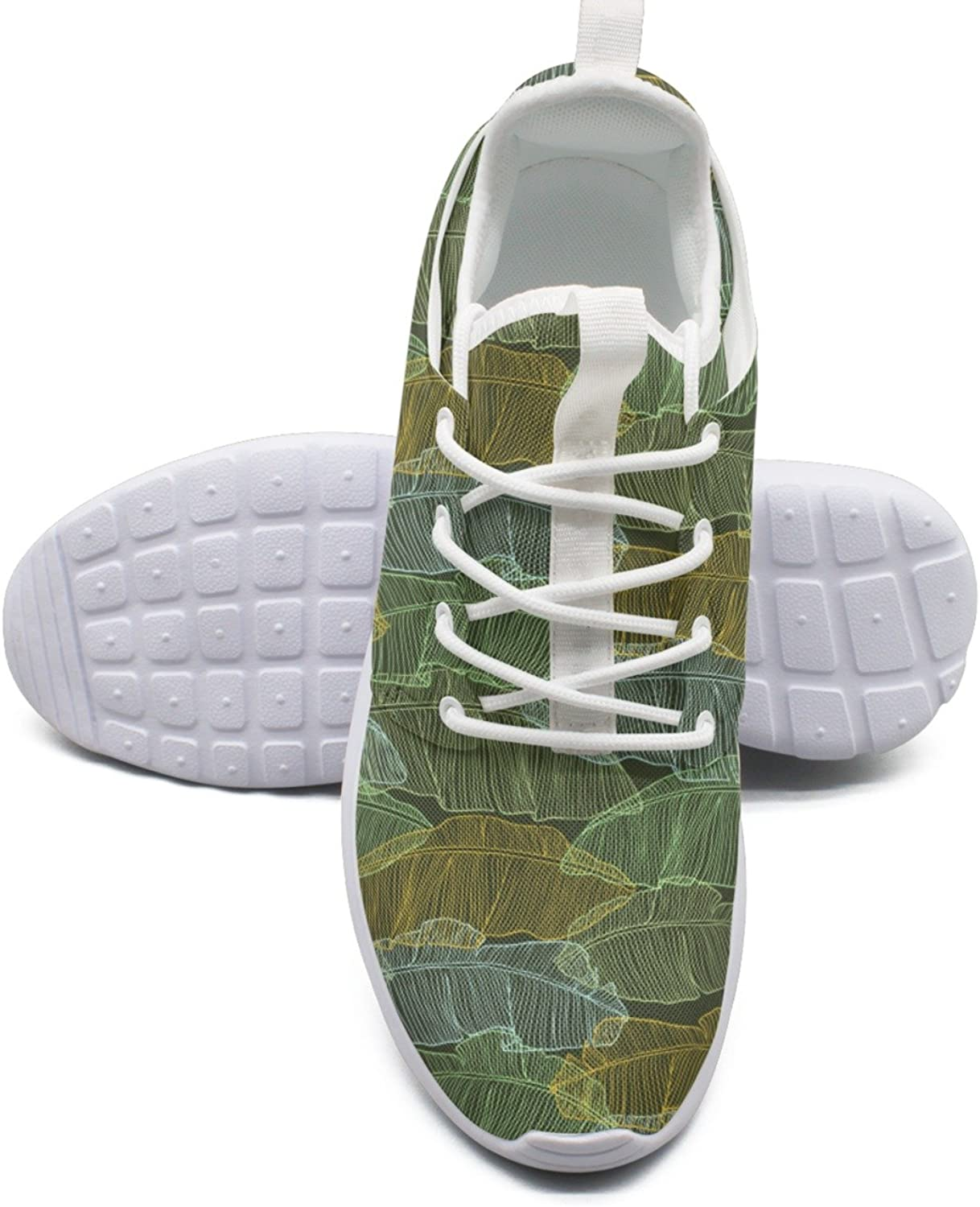 Leaves Of Palm Tree Trail Running shoes Women Stability size 6.5