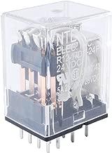 NTE Electronics R12-17D3-12P Series R12 General Purpose DC Relay, 4PDT Contact Arrangement, 3 Amp, 12 VDC, PC Board Mount