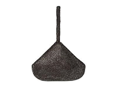 Jessica McClintock Staci Rhinestone Mesh Pouch Wristlet (Gunmetal) Wristlet Handbags