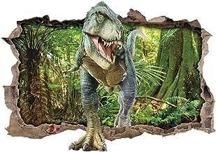 ufengke Pegatinas De Pared Dinosaurio Bosque Vinilos Adhesivos Pared 3D para Dormitorio Habitación Infantiles Bebés