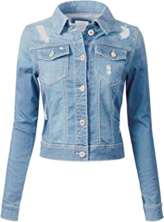 244cec964a6 Instar Mode Women s Classic Casual Vintage Denim Jean Jacket Vest