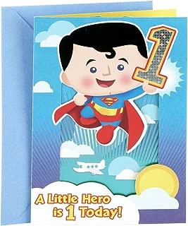 Hallmark 1st Birthday Greeting Card for Boy (Pop Up Superman)