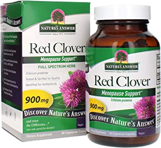 Nature's Answer Red Clover Trifolium Pratense Full Spectrum Herb Organic Natural Vegetarian Vegan High Strength Dietary Su...