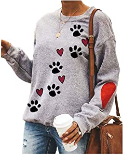 Coolred Women Print Tshirt Plus Size Fall Winter Baggy Crewneck Tee Shirt