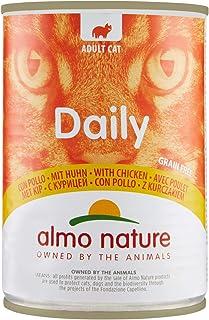 Almo Naturure - Alimentos Diarios para Gatos, 400 g, Grano Libre con Pollo, 24 Unidades