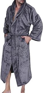 comprar comparacion Unisexo Suave Albornoz con Capucha Franela Vestido Talla Grande Pijama Invierno Bata Pijama Pareja
