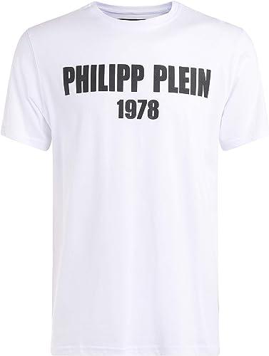 Philipp Plein T-Shirt Platinum Cut blanc Con Stampa gommata nera