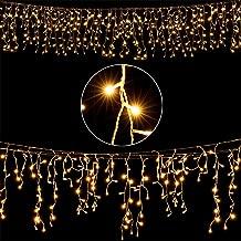 Deuba LED Regenkette 600 LEDs warmweiß Weihnachten Deko Beleuchtung   In- & Outdoor  Schutzklasse IP44   Modellauswahl