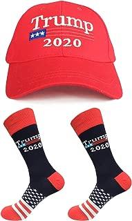 Trump 2020 Hat Make America Great Again Baseball Cap & 2 Pairs Novelty Dress Socks