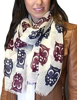 Anika Dali Women's Happy Owl Scarf in Soft and Lightweight Wool