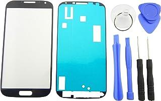 9cc9f9b9ebf Pantalla de Cristal Frontal para Samsung Galaxy S4 i9500 i9505 frontal  Cristal Pantalla Táctil + Adhesivo