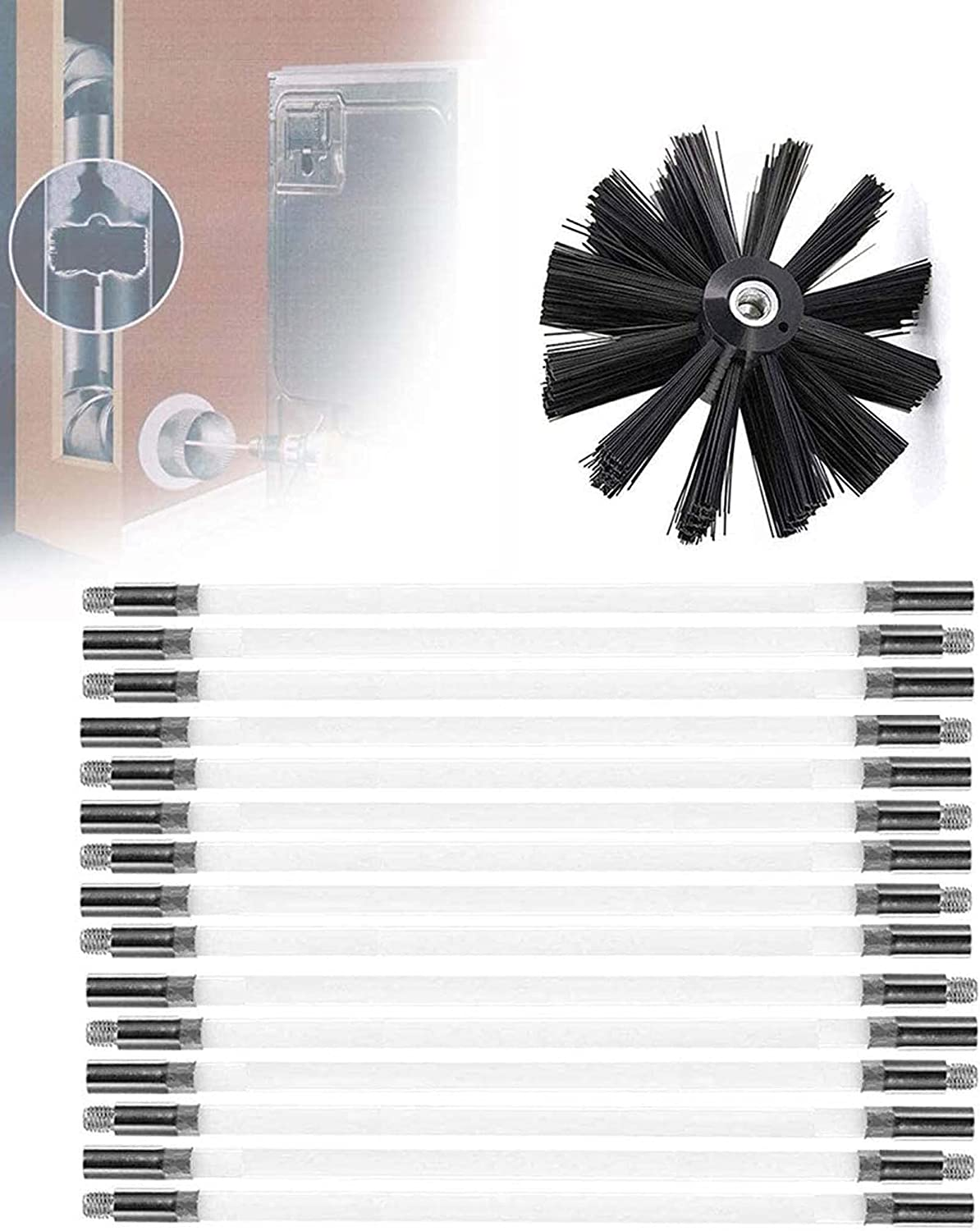QDY -Chimney Sweep Brushes Kit Dryer Vent Bombing new work Drain Se Cleaning Rod Wholesale