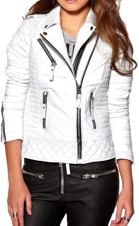 Women's Stylish Lambskin Genuine Leather Jacket WJ266