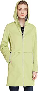 ICEbear Women's Waterproof Rain Jacket Mid-Length Casual Lightweight Hooded Anorak Jacket