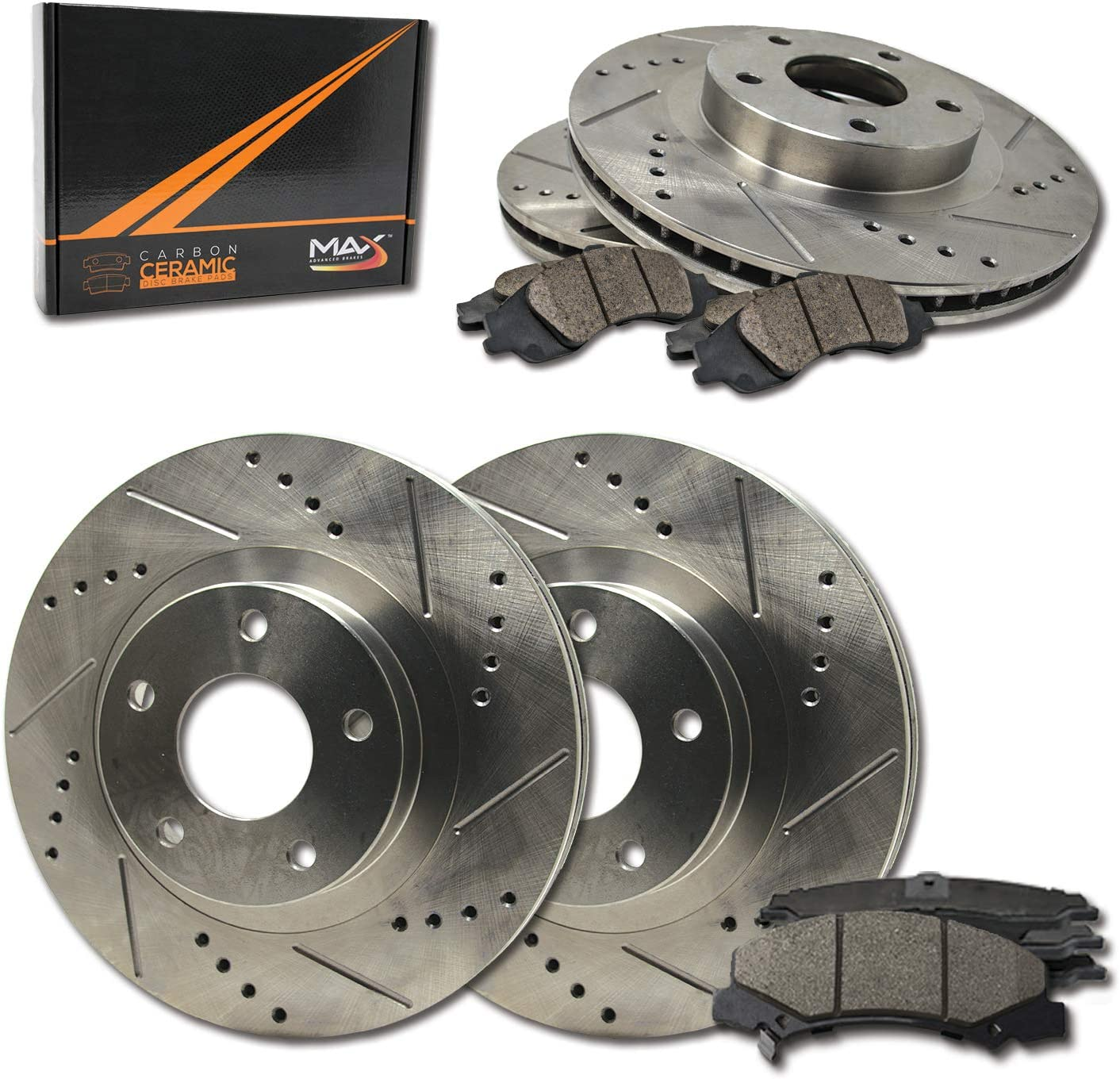 Front + Rear Max Brakes Free shipping anywhere in the nation Finally popular brand Premium Ceramic Carbon with XDS Rotors