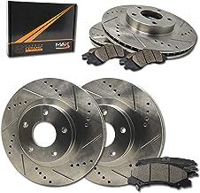 Fits Max Brakes Front M1 Supreme Ceramic Premium Disc Brake Pads KM141451 2015 15 Fits Infiniti Q60 w//355mm Front Rotors