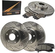Max Brakes Front & Rear Performance Brake Kit [ Premium Slotted Drilled Rotors + Ceramic Pads ] KT010233 Fits: 2001-2005 BMW 325i 325Ci E46