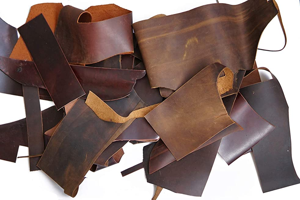 Leather Scrapes - 1.4mm-2.0mm Leather Hide for Crafts/Tooling/Sewing/Handmade (1lb)