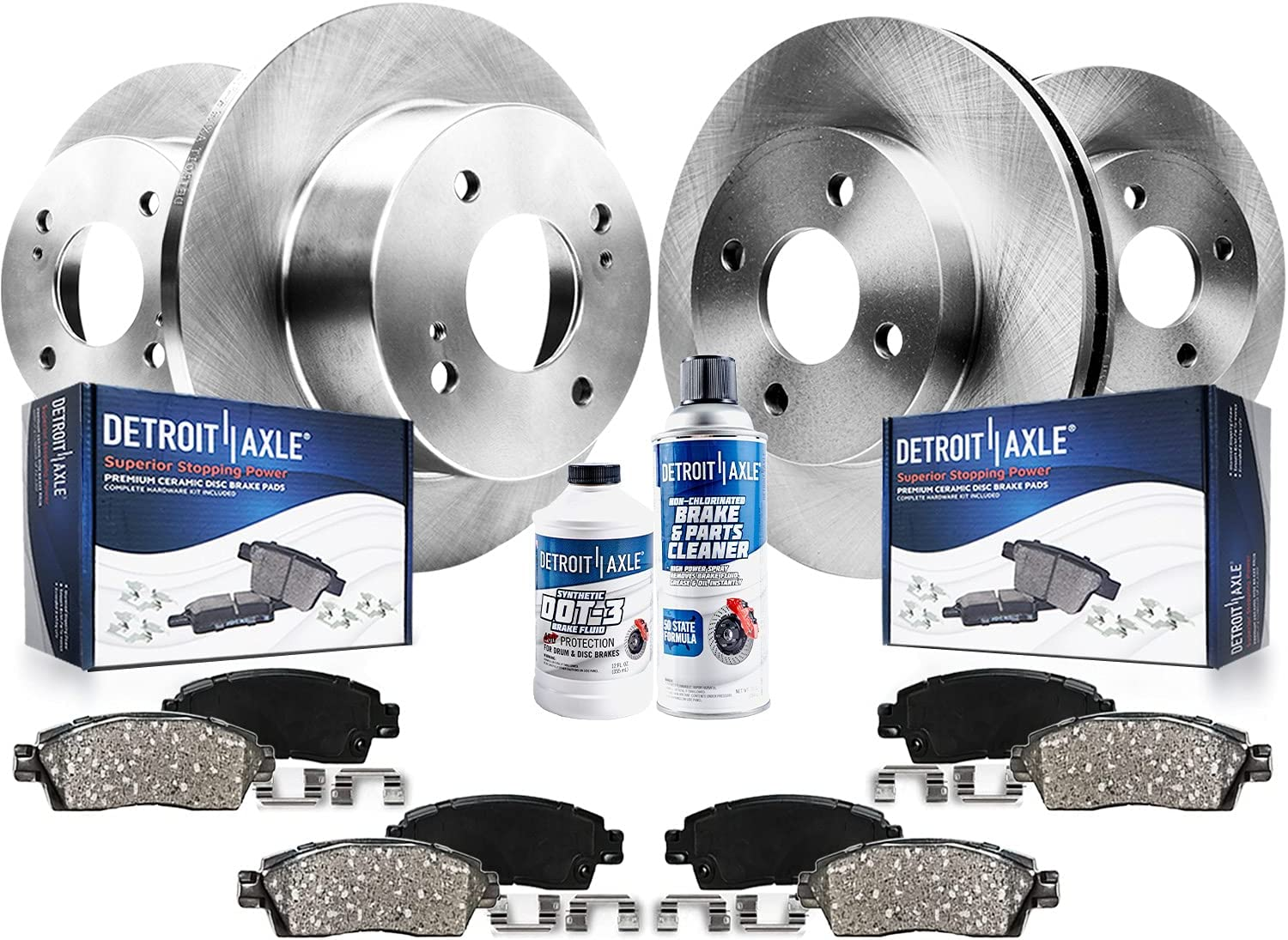 Detroit Axle - Front and 最安値 Rear 2020 Disc w Pa Ceramic Kit Brake Rotors