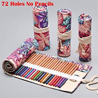 YWSCXMY-AU 12/24/36/48/72 Volume Pencil Case Canvas Pen Bag Cute Big Pencil Case Stationery Bag (Color : Pink)