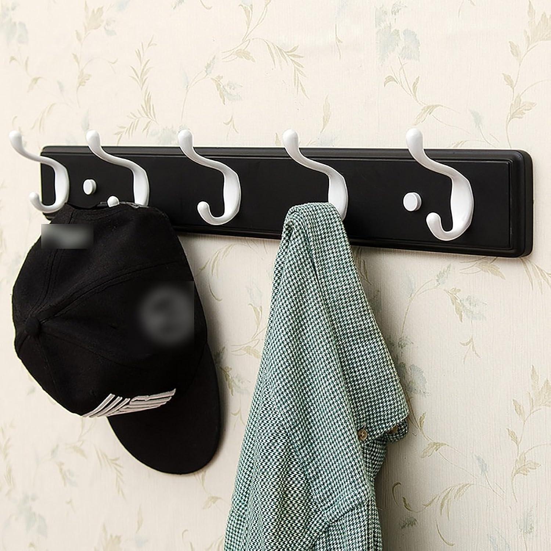 LFF- Wall-Mounted Coat Rack Hanger Wall Shelf Bedroom Living Room Door Clothes Hook Clothes Hanger Hat Rack (color   Black, Size   C)