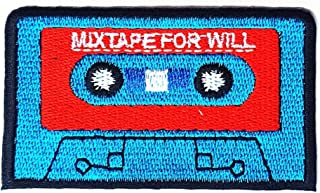 Mix Tape for Will Cassette Tape Music Cartoon Children Kid Patch Clothes Bag T-Shirt Jeans Biker Badge Applique Iron on/Sew On Patch