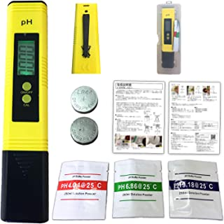 [AQULA] PH測定器 水質検査キット 水槽 熱帯魚 飼育 観賞用 デジタル ペーハー測定器 PH計 はかり お手軽便利キット
