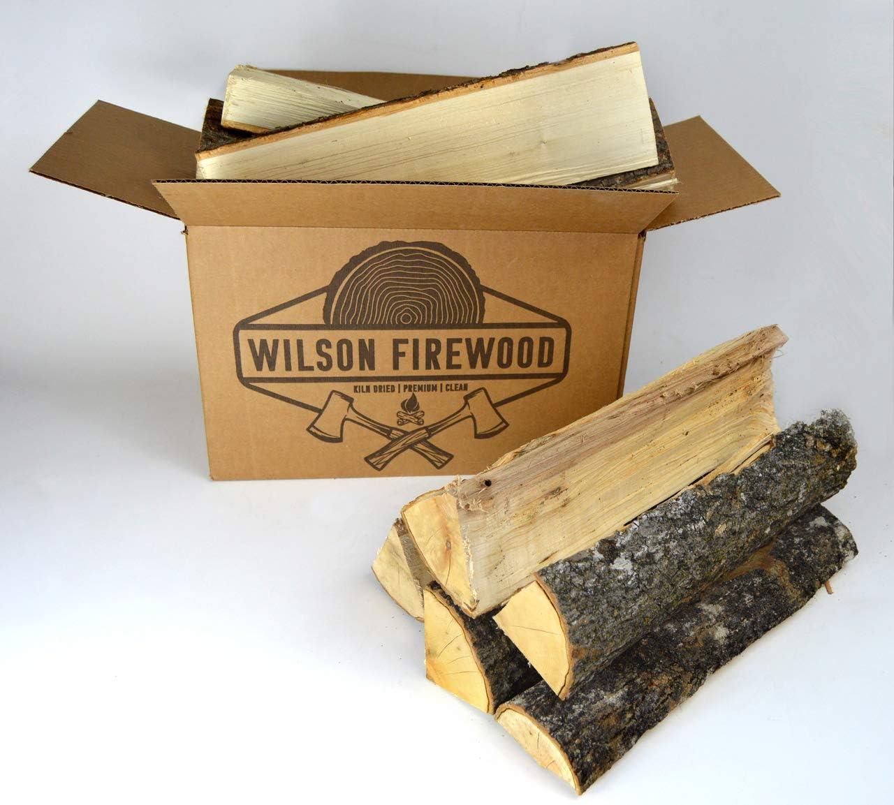 Wilson Enterprises Split Firewood- Birch, Maple, Oak, Apple, or Cherry. Natural Kiln Dried Firewood (Maple XL)