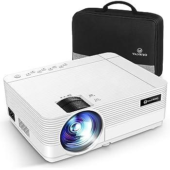 """VANKYO Leisure 470C Proiettore 720P, Videoproiettore Display da 250"""" HiFi Speaker, 2 Porte HDMI, con Borsa Portatile, Design Compatto per iOS/Android TV Stick Home Cinema Regalo Natale"""
