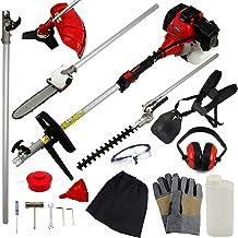52cc Multi Función 5-en-1 Herramienta para el jardín - desbrozadora, Cortadora de cesped, motosierra, cortasetos y Más