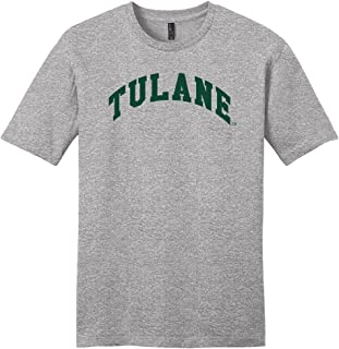 Campus Merchandise NCAA Tulane Green Wave Arch Soft Style T-Shirt, Light Heather Grey, Small