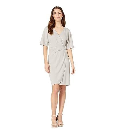 Michael Stars Pebble Knit Pleat Wrap Dress (Castle) Women