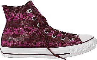 Converse Womens Chuck Taylor Hi Bordeaux Floral Print Textile Trainers