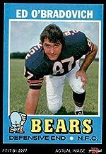 1971 Topps # 78 Ed O'Bradovich Chicago Bears (Football Card) Dean's Cards 5 - EX Bears
