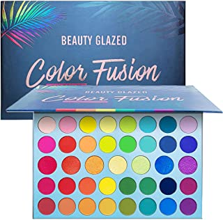Beauty Glazed Rainbow Eyeshadow Palette - Professional 39 Color Makeup Matte Metallic Shimmer Eye Shadow Palettes - Ultra Pigmented Powder Bright Vibrant Colors Shades Cosmetics Set