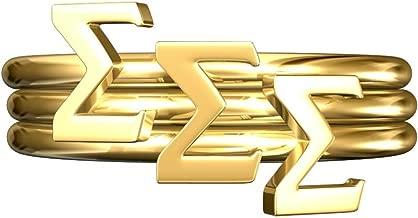 A-List Greek Sigma Sigma Sigma Sorority Stack Rings