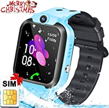 FUNSEA Kids Smart Watch Phone with SIM Card GPS Tracker SOS Safety Call Waterproof Smartwatch Phone with Voice Chat Anti-Lost Camera Learning Games Back to School Ideas Gifts for Teen Girls Boys