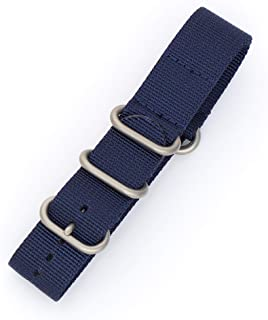 Hadley-Roma Military NATO Style Sturdy Premium Nylon Watch Strap -18mm, 20mm, 22mm (MS4250)