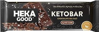 Sponsored Ad - Heka Good Foods Low Carb Keto Bars, Chocolate Sea Salt, 2g Net Carb, 10g Protein, No Sugar Added, Grain & G...