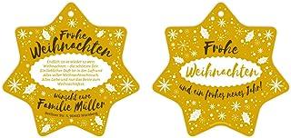 Weihnachtskarten als Weihnachtsdeko (60 Stück) - Weihnachtsstern Schlicht in Gelb B01MECVTSH  Britisches Temperament