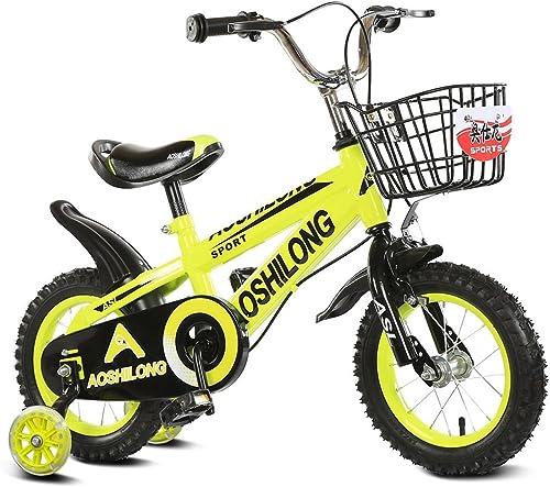 mejor calidad mejor precio CivilWeaEU- Bicicleta del Doblez del del del Niño 3-6-8 años Cochecito de bebé 12 Pulgadas 14 Pulgadas 16 Pulgadas Bicicleta de 18 Pulgadas (Color   amarillo, Tamaño   12Inch)  compras online de deportes